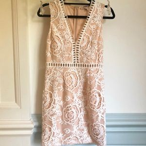 Forever 21 Blush Cocktail Dress with Crochet